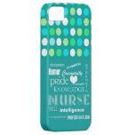 Nurse Pride-Attributes/Turquoise Blue/Polkadots iPhone 5 Case