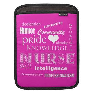 Nurse Pride-Attributes Vibrant Pink Sleeves For iPads