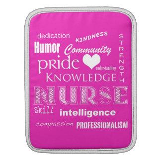 Nurse Pride-Attributes Vibrant Pink iPad Sleeves