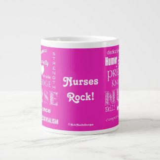 Nurse Pride-Attributes/Vibrant Pink Large Coffee Mug