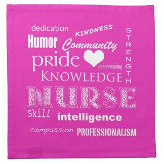 Nurse Pride-Attributes/Vibrant Pink Napkin