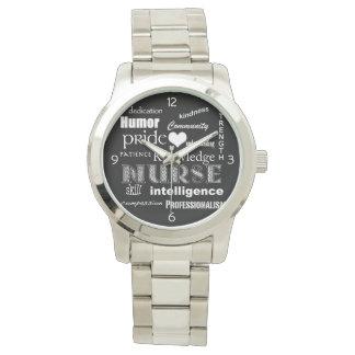 Nurse Pride-Attributes/White Heart Watch