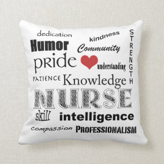 Nurse Pride Attributes-with Red Heart Throw Pillow