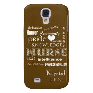 Nurse Pride-Personalize Name/Chocolate Brown Samsung S4 Case