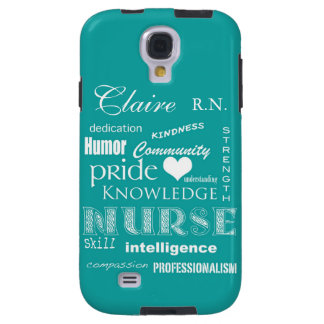 Nurse Pride-Personalize Name/Turquoise Galaxy S4 Case