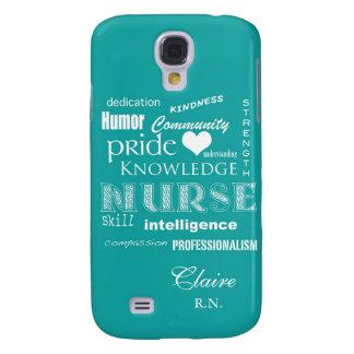 Nurse Pride-Personalize Name/Turquoise Samsung S4 Case