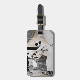 Nurse Pumping Water Bag Tag
