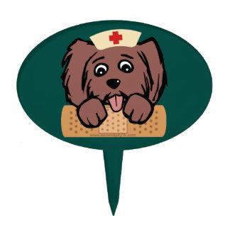 Nurse Pup Cake Topper