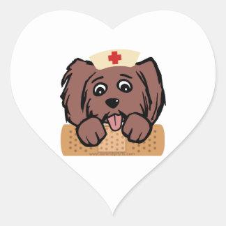 Nurse Pup Heart Sticker
