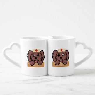 Nurse Pup Couples' Coffee Mug Set