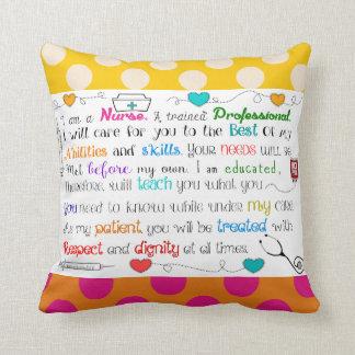 Nurse Quotes Retirement Throw Pillow