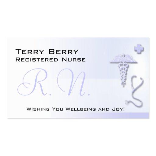 Nurse R.N. Custom Lavender Blue Business Card