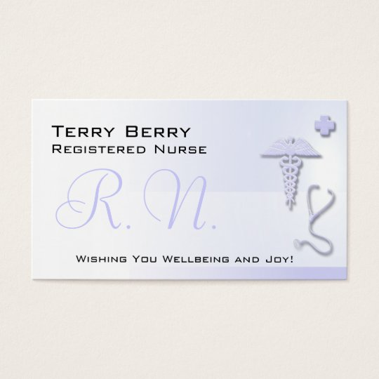 Nurse R.N. Custom Lavender Blue Business Card