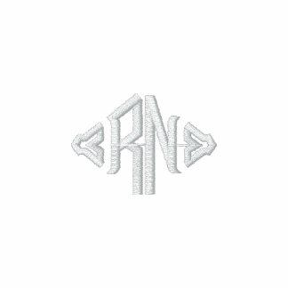 Nurse-R.N. Monograma Chamarra De Deporte Bordada