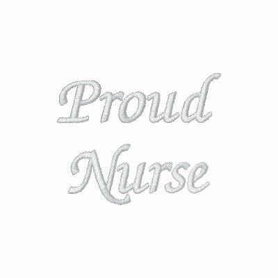Nurse-R.P.N./White orgulloso en negro Sudadera Bordada Con Serigrafia