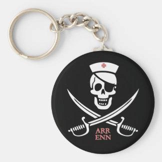 Nurse Rackam Basic Round Button Keychain