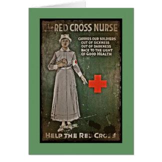 Nurse Requesting Donations WWI Card