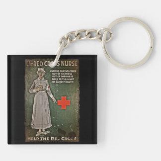 Nurse Requesting Donations WWI Keychain