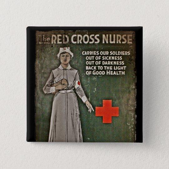 Nurse Requesting Donations WWI Pinback Button