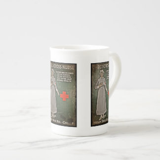 Nurse Requesting Donations WWI Bone China Mug