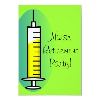 Nurse Retirement Party Invitations Giant Syringe