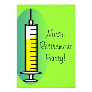Nurse Retirement Party Invitations Giant Syringe
