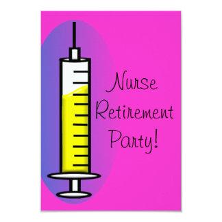 Nurse Retirement Party Invitations Giant Syringe 2