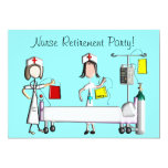 Nurse Retirement Party Invitations Hospital Design