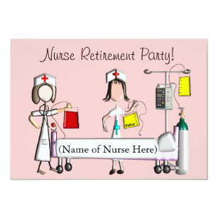 Hospital invitations announcements zazzle nurse retirement party invitations pink hospital stopboris Image collections