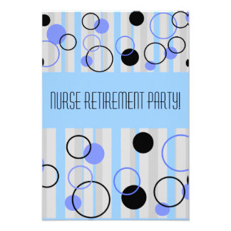 Nurse Retirement Party Invitations Retro Style