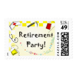 Nurse Retirement Party Postage Stamps