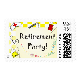 Nurse Retirement Party Postage Stamps