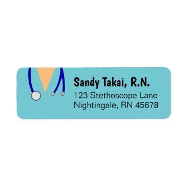 Professional Business Nurse Return Address Labels Personalized Scrubs