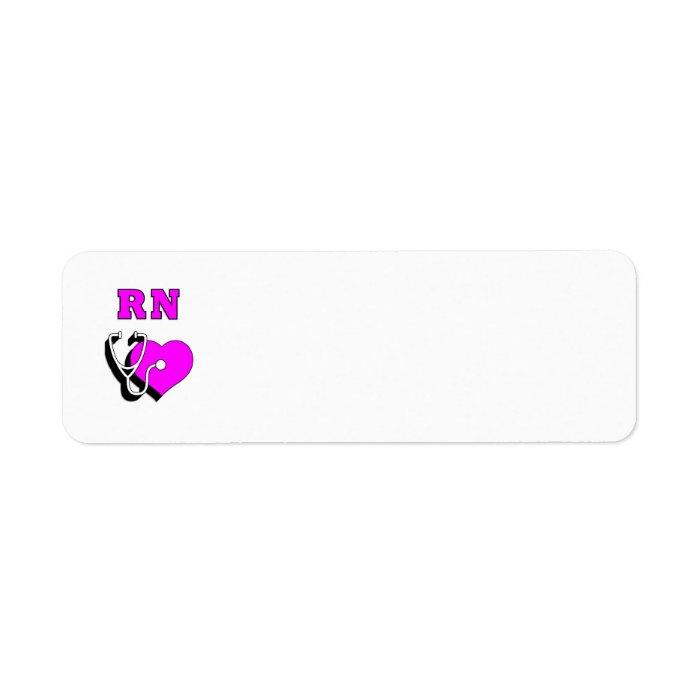 Nurse RN Care Label