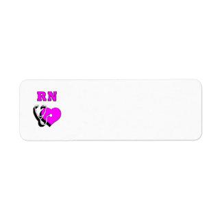 Nurse RN Care Return Address Label