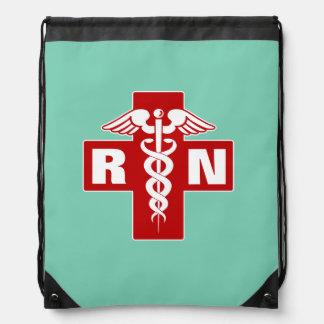 Nurse RN or Initials Drawstring Backpack