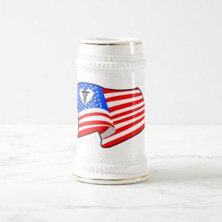 Nurse RN USA Pride Beer Stein