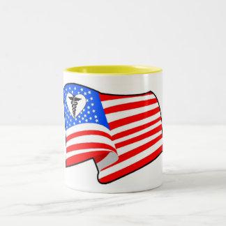 Nurse RN USA Pride Two-Tone Coffee Mug