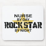 Nurse Rock Star by Night Mouse Pads