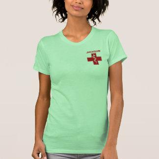Nurse Rod of Asclepius Caduceus Name Template T-Shirt