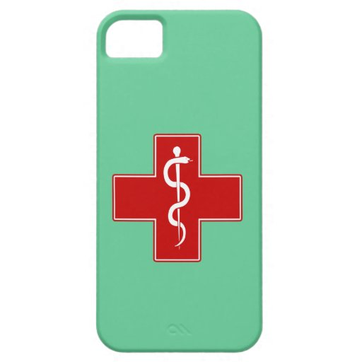 Nurse Rod of Asclepius iPhone 5 Covers