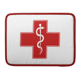 Nurse Rod of Asclepius Sleeve For MacBook Pro