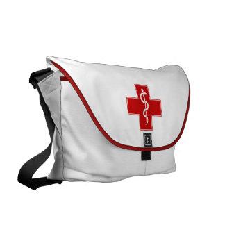 Nurse Rod of Asclepius Messenger Bag