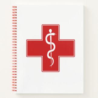 Nurse Rod of Asclepius Notebook