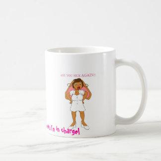 Nurse Roxi mug- Charge Nurse means I'm in charge! Classic White Coffee Mug