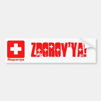 Nurse-Russian Car Bumper Sticker