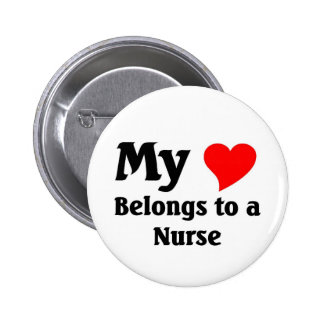 Nurse s Heart Pinback Button