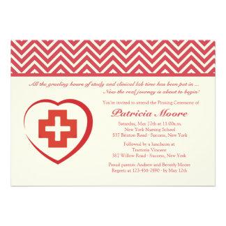 Nurse s Heart Graduation Invitation