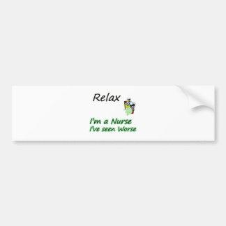 "Nurse say ""Relax"" Bumper Sticker"