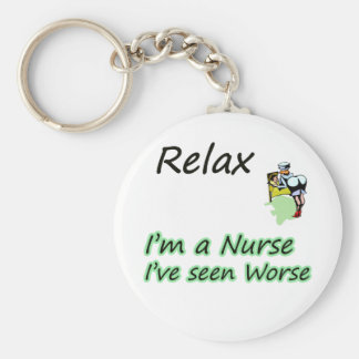 "Nurse say ""Relax"" Keychain"